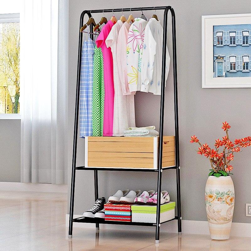 Modern minimalist fashion creative standing livingroom storage furniture hanger racks stainless steel multi functional coat rack