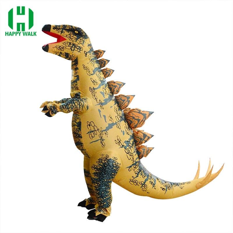Inflatable Stegosaurus Costume Jurassic World Park Dinosaur Costume Halloween Cosplay Costumes For Adult T REX Dinosaur