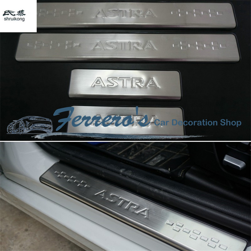 Free shipping Car accessories stainless steel scuff plate door sill car styling For OPEL ASTRA J VAUXHALL ASTRA 2010 2012 2014 стоимость