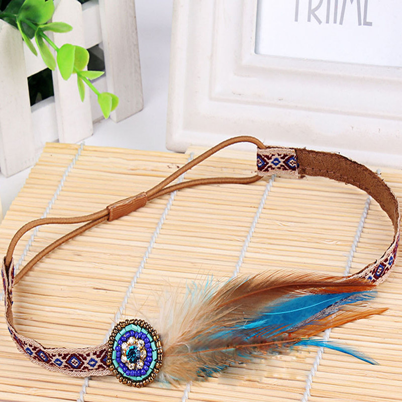 Lovely Fashion Festival Feather Headband Hippie Headdress Hair Accessories Boho New Arrival сандали ecco 821014