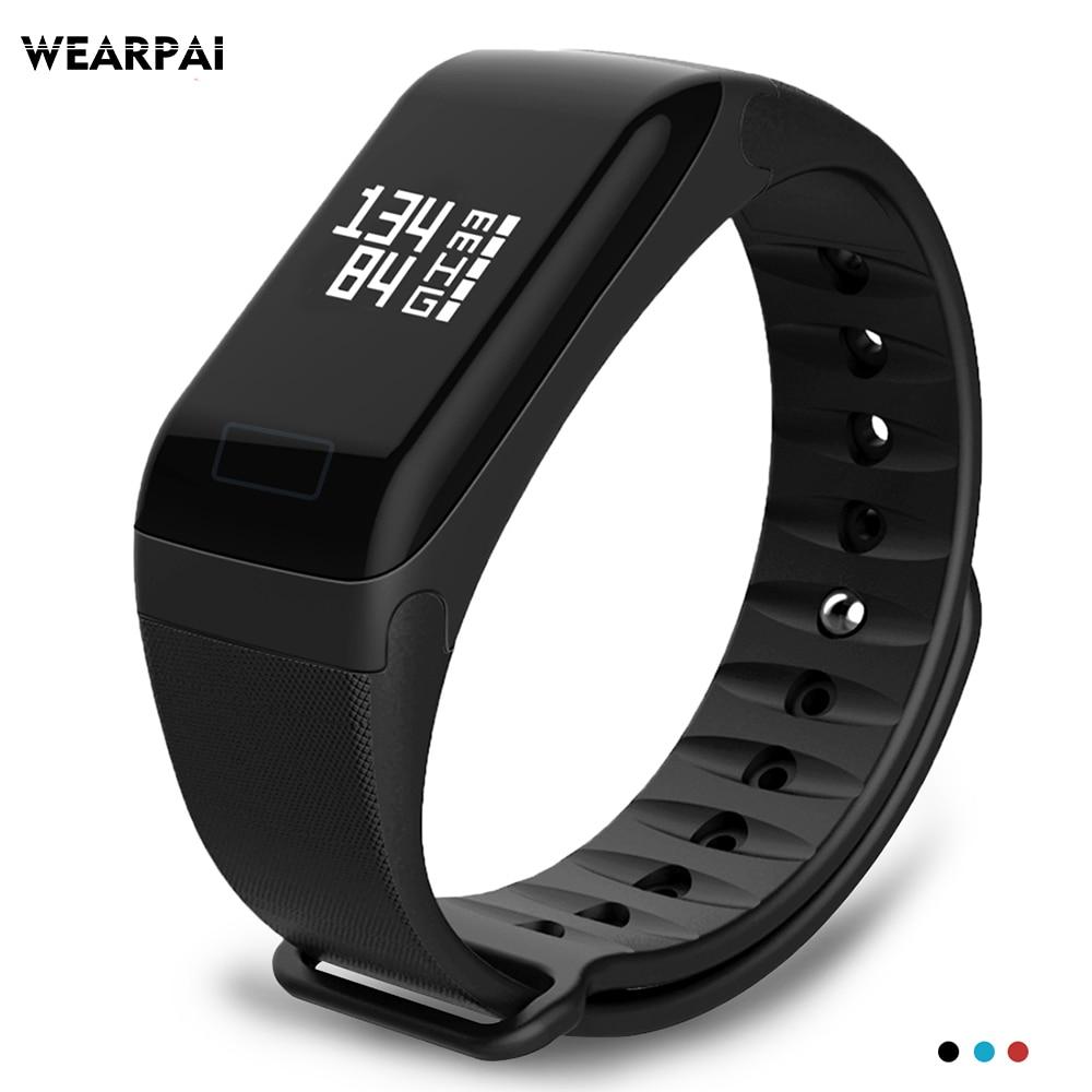 Wearpai WP103 pressão arterial, monitor de freqüência cardíaca Pulseira Inteligente Monitor de Rastreador De Fitness Passo Contador Atividade Banda inteligente