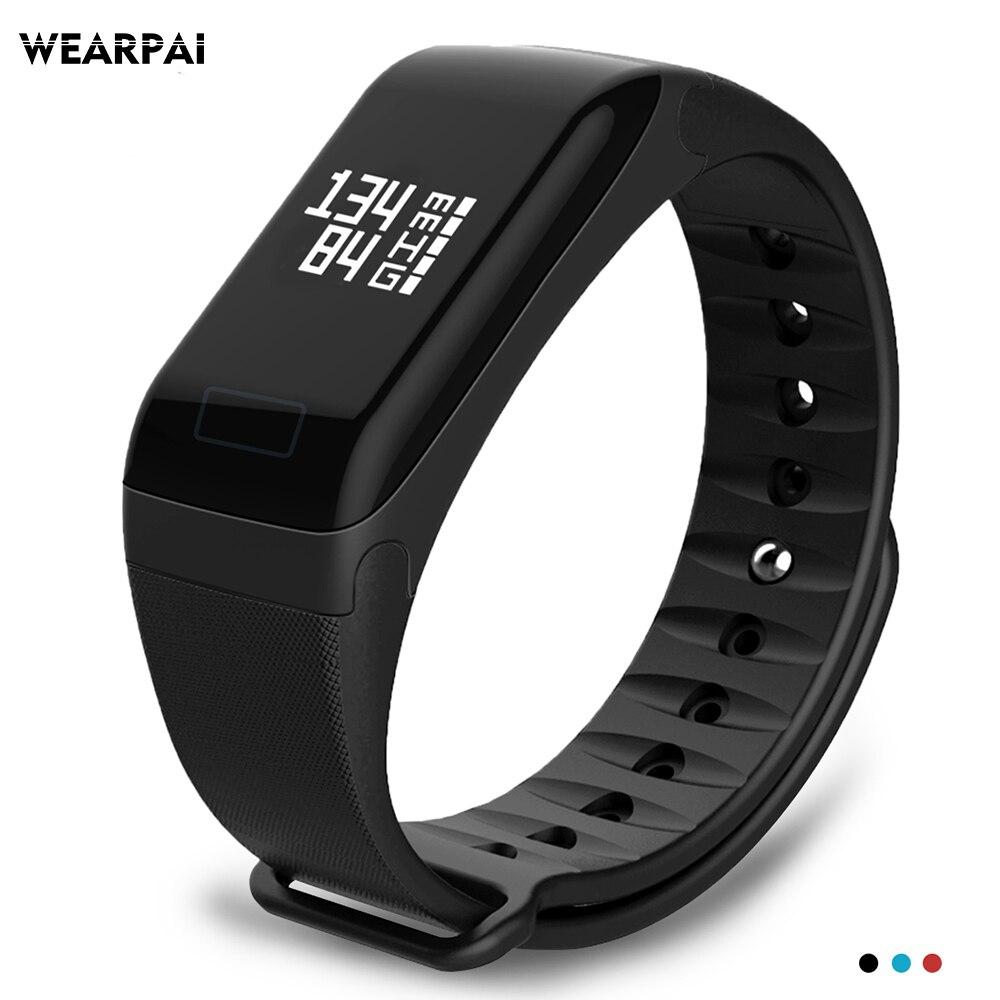 Wearpai WP103 pressione sanguigna, heart rate monitor Intelligente Braccialetto Inseguitore di Fitness Contapassi Attività Monitor intelligente Banda