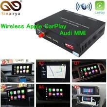 2019 автомобиль IOS Apple обмена потоковыми мультимедийными данными (Airplay) Android Авто Беспроводной CarPlay коробка для Audi A3 A4 A5 A6 Q3 Q5 Q7 оригинальный Экран обновления MMI Системы