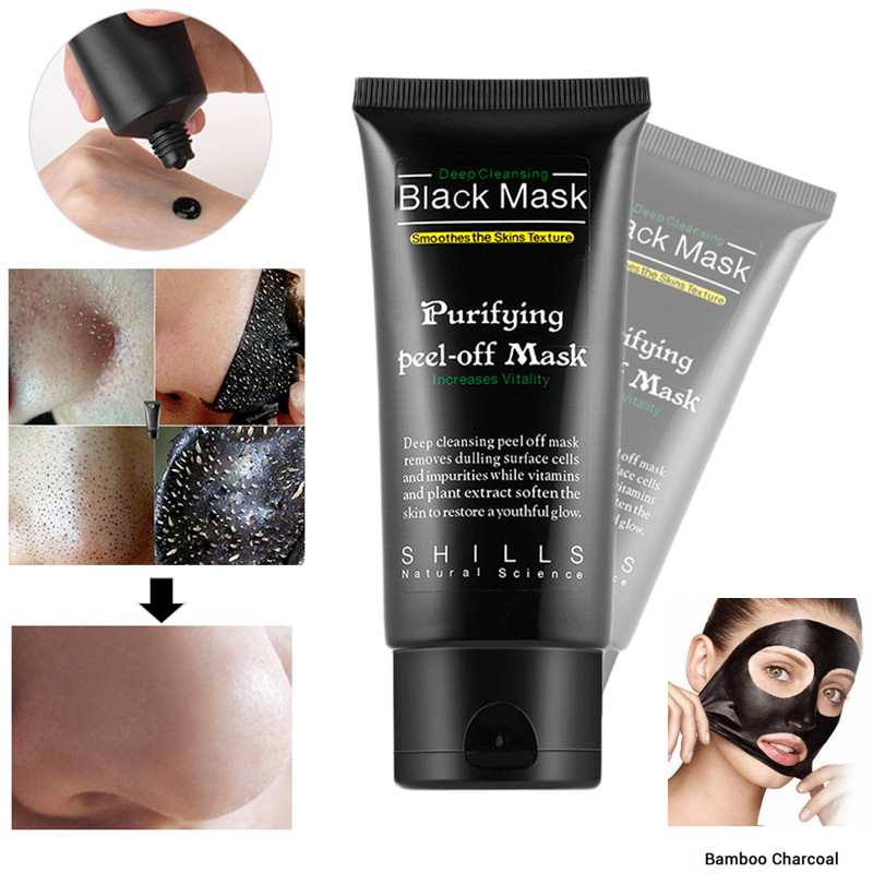 Elecool Black Mud Mask Deep Cleanse Acne Blackhead Remover Mask Blackhead Remover Pore Cleansing Strip Mask Face Care Tool High Quality Goods Beauty & Health Skin Care