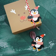 new 50pcs lollipop cover penguin design children birthday wedding candy decorate holiday Christmas gift packaging