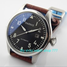 47 mm PARNIS big pilot Automatic Self-Wind movement Green lu