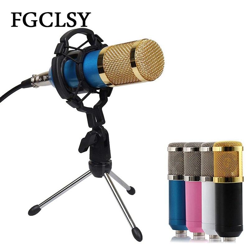 Microfone Condensador de Gravação de Som BM800 Microfone Com Fio Com O Choque de Montagem Para O Rádio Kit De Gravação KTV Karaoke Cantando BM 800