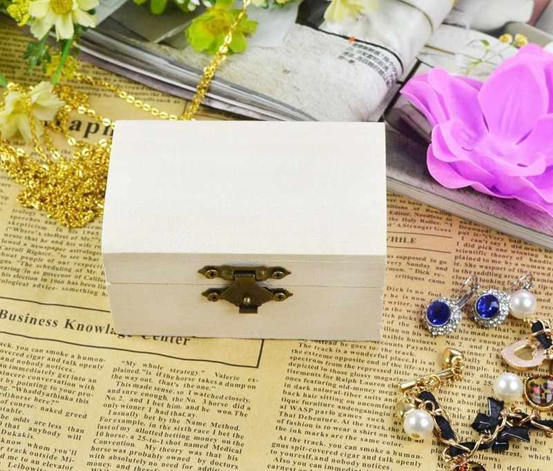Домашние хранение Коробки Почтовые открытки Органайзер Винтаж шкатулка для украшений ручной прямоугольник/в форме сердца многофункциональный 1 шт., деревянных коробок