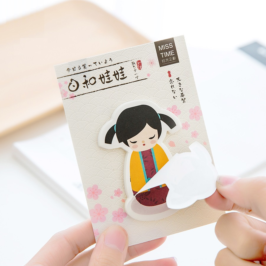 36 pcs/Lot Baby doll sticky notes and memo pads Cute post sticker for book Stationery office accessories School supplies 6491