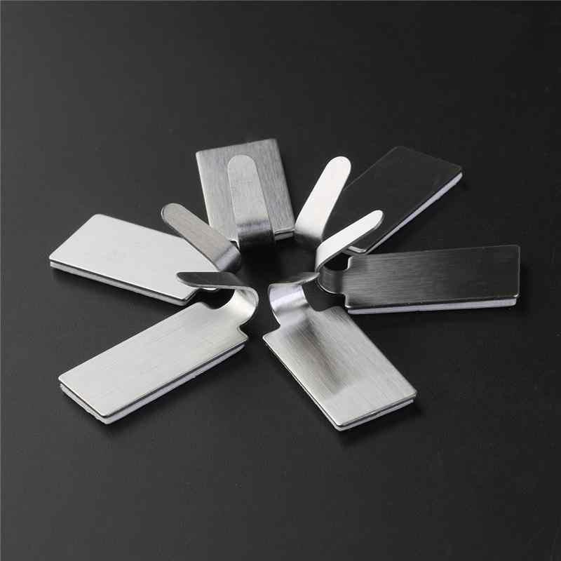 Toalleros de Gancho para Ba/ño Cocina y Ba/ño Max 5KG Ganchos Adhesivos para Pared de Acero Inoxidable Plata 4Pcs Ganchos Adhesivos