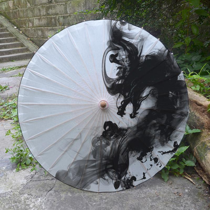Simple White And Black Oil Painting Umbrella Dragon Handmade Paper Umbrella Sunahde Parasol Decoritive Oiled Paper Umbrella Oil Paper Umbrella Paper Umbrellahandmade Umbrella Aliexpress