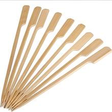 30 шт. 20 см бамбуковые шампуры весла палочки для барбекю для кебаба барбекю фруктовые овощные зубочистки уличные инструменты