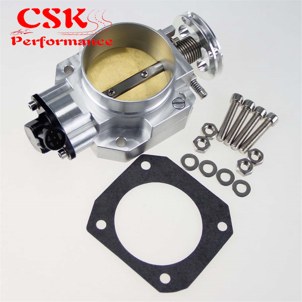 Aluminum Intake Manifold 70mm Throttle Body Fits For <font><b>Honda</b></font> <font><b>Civic</b></font> DC2 <font><b>B16A</b></font> B16B B18C EX SI Silver/Black image
