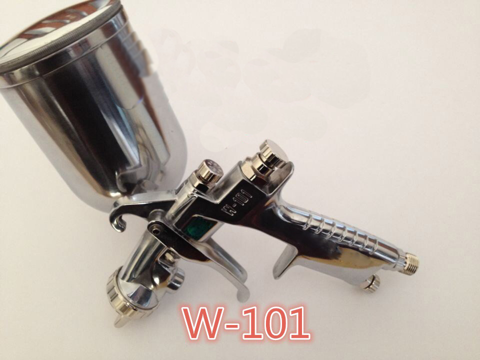 Japan made HVLP W101 134G painting spray gun Gavity feed 1 3 nozzle with H4 air