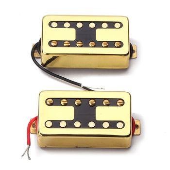 OOTDTY  Guitar Pickup Humbucker Toaster Shape Neck and Bridge for LP 6 String tooyful alnico 5 humbucker pickup bridge neck set p90 for electric guitar accessory