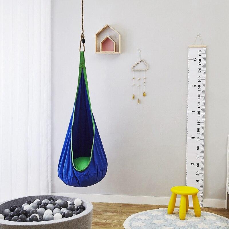 Doux coton enfants chambre jouant balançoires bébé pulls enfant hamac suspendu lit gonflable coussin tapis chambre décor photographie Prop - 2
