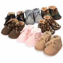 Winter 2017 Baby Boys Girls Keep Warm Shoes First Walkers Sneakers Kids Crib Bebe Infant Toddler Footwear Solid Boots Prewalkers
