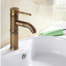 Modern Design Bamboo Antique Brass Faucet / Fshion Basin Faucets /Bathroom Mixer / Vintage Bathroom Sink Faucet& Water Tap 583-5