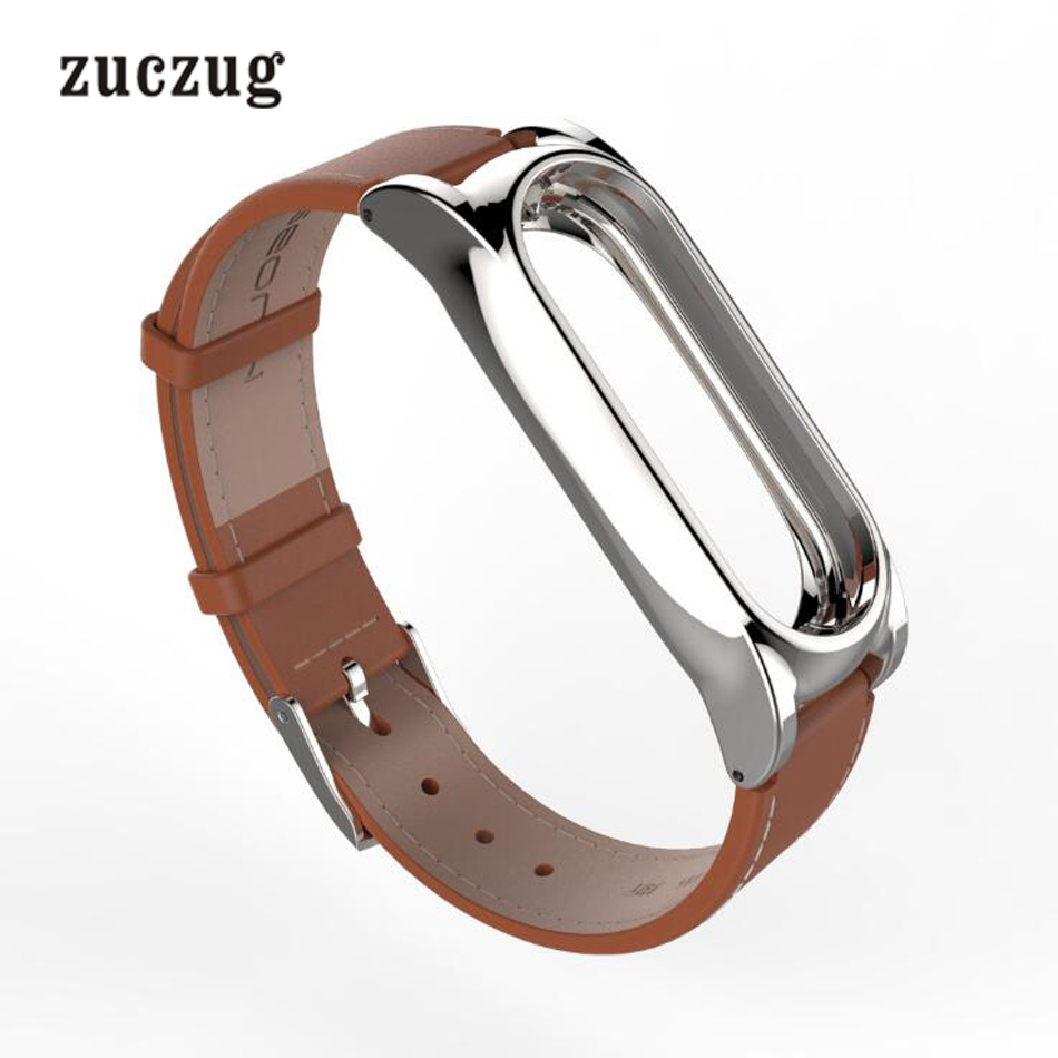 Zuczug Genuine Leather Strap For Xiaomi Mi Band 1/1s/2 cowhide material Wrist Straps Bracelet Band Replace Accessories