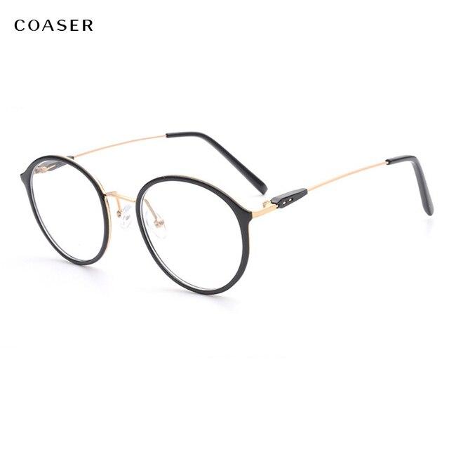 Aliexpress.com : Buy COASER Super Light Round Vintage Metal TR90 ...