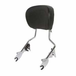Image 4 - Motorcycle Detachables Upright Backrest Pad Sissy Bar For Harley Touring Road King Street Glide Electra Glide Ultra 2009 2020