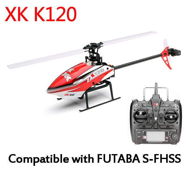 XK K120 Shuttle 6CH Brushless Motor 3D6G System RC Helicopter RTF 2.4GHz Compatible with FUTABA S-FHSS original xk k124 bnf without tranmitter ec145 6ch brushless motor 3d 6g system rc helicopter compatible with futaba s fhss