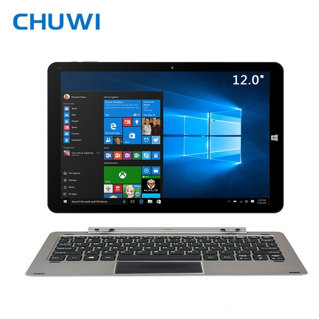 CHUWI Official! CHUWI Hi12 Dual OS Tablet PC Windows10 Android 5.1 Intel Atom Z8350 4GB RAM 64G ROM 12Inch 2160x1440 IPS Screen