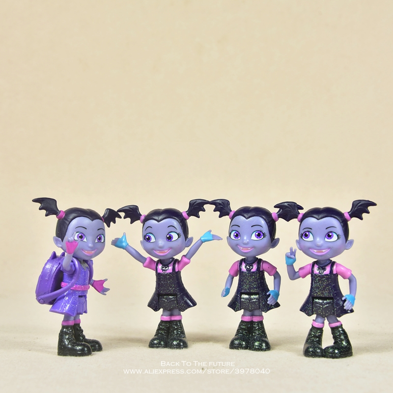 Disney Vampirina princess 9cm Action Figure Anime Mini doll Decoration PVC Collection Figurine Toys model for children giftDisney Vampirina princess 9cm Action Figure Anime Mini doll Decoration PVC Collection Figurine Toys model for children gift