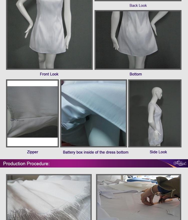 17 fiber optical LED dress women costume luminous clothing Carnival costume luminous dress free shipping 4
