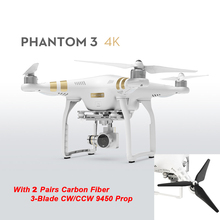 Original DJI Phantom 3 4K 2016 Newest Version With 3-Axis Gimbal Camera RC Drone Quadcopter Helicopter FPV Free Shipping Via EMS