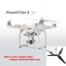 Original DJI Phantom 3 4K 2016 Newest Version With 3-Axis Gimbal Camera RC Drone Quadcopter Helicopter FPV Free Shipping Via EMS