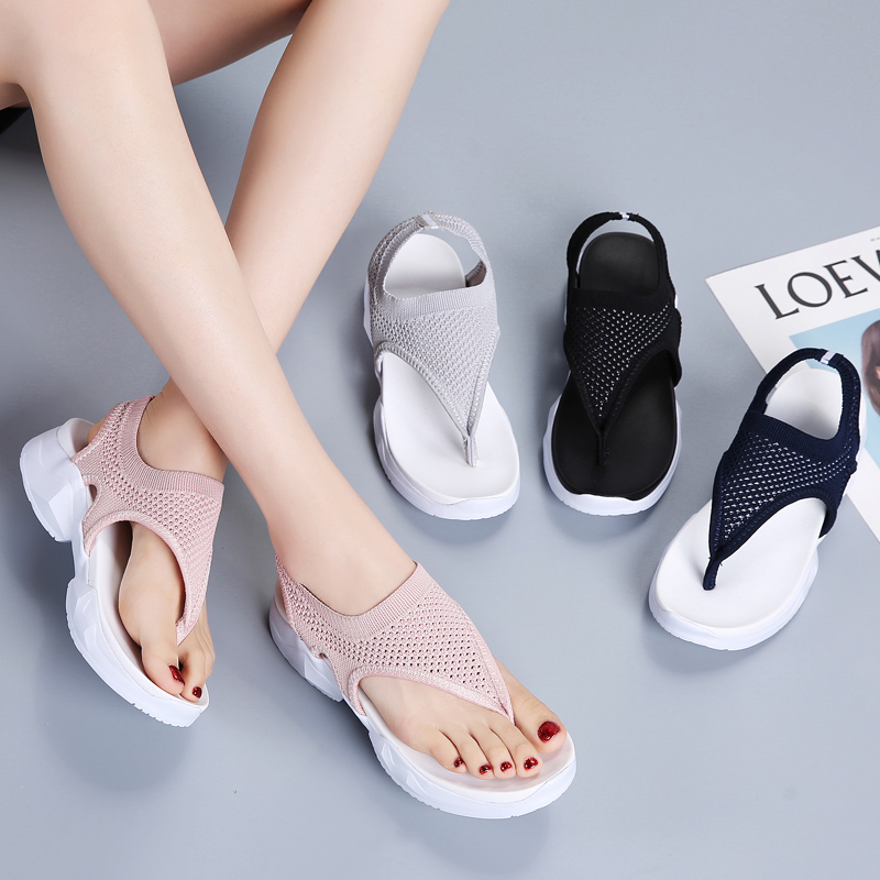 Women Sandals New Female Shoes Woman Summer Wedge Comfortable Sandals Ladies Slip-on Flat Sandals Women Sandalias mujerWomen Sandals New Female Shoes Woman Summer Wedge Comfortable Sandals Ladies Slip-on Flat Sandals Women Sandalias mujer