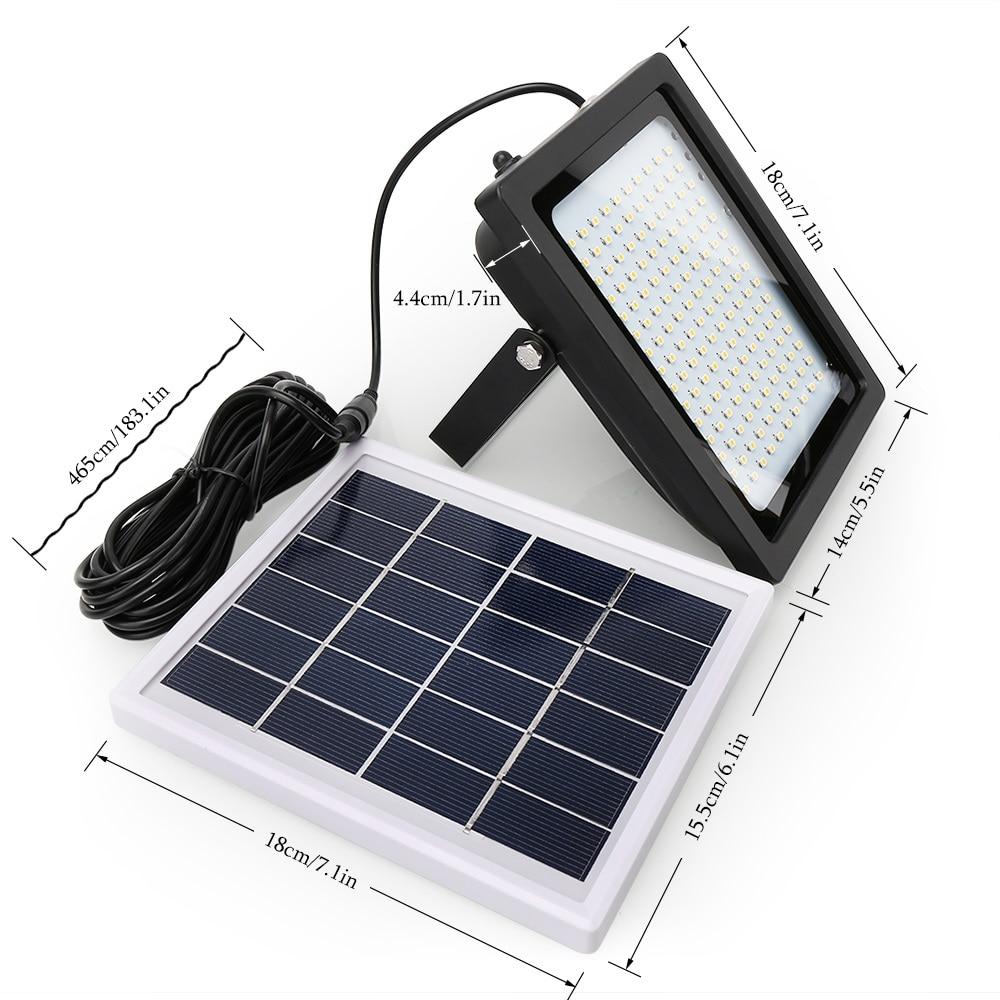 Solar LEVOU Luz de Inundação 150 LEDs