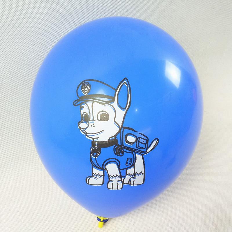 Bebé azul colorido los patas lindo perro impresión látex Globos helio  fiesta de cumpleaños Globos Navidad decoración Bola de juguete de los niños  en Globos ... b09b9ed0ff396