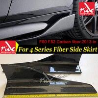 Общего назначения Универсальный Автомобильный модель углеродного волокна сторона юбка для BMW 4 серии головной производитель F80 M3 F82 M4 2013 в ос