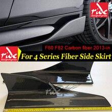 General-purpose Universial Car Model Carbon Fiber Side Skirt for BMW 4-Series F80 M3 F82 M4 2013-in Bumper Extension