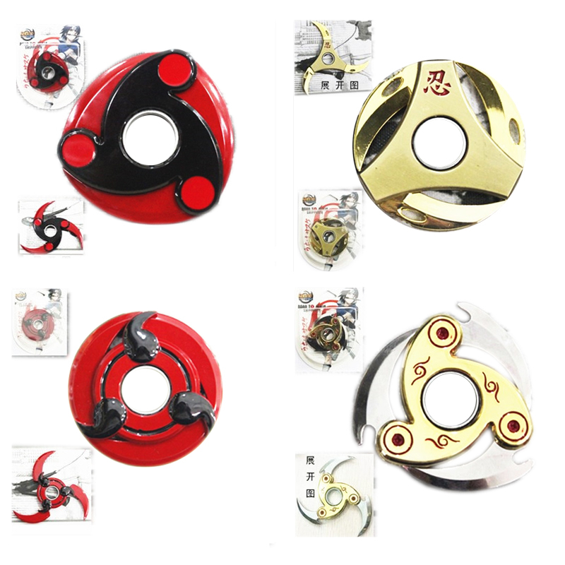 9 Types Hand Spinner Sword Weapon Naruto Fuhma Shuriken Shrinkable Naruto Metal Kunai Japanese Cosplay Props Sasuke Kakashi #F cool game genji darts alloy metal weapon rotatable darts cosplay props for collection fidget spinner hand anti stress kf028