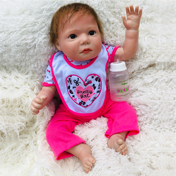 50cm silicone reborn baby boy soft body dolls bonecas boys handmade lifelike girl mini doll 20'' handmade vinyl gift toy for kid