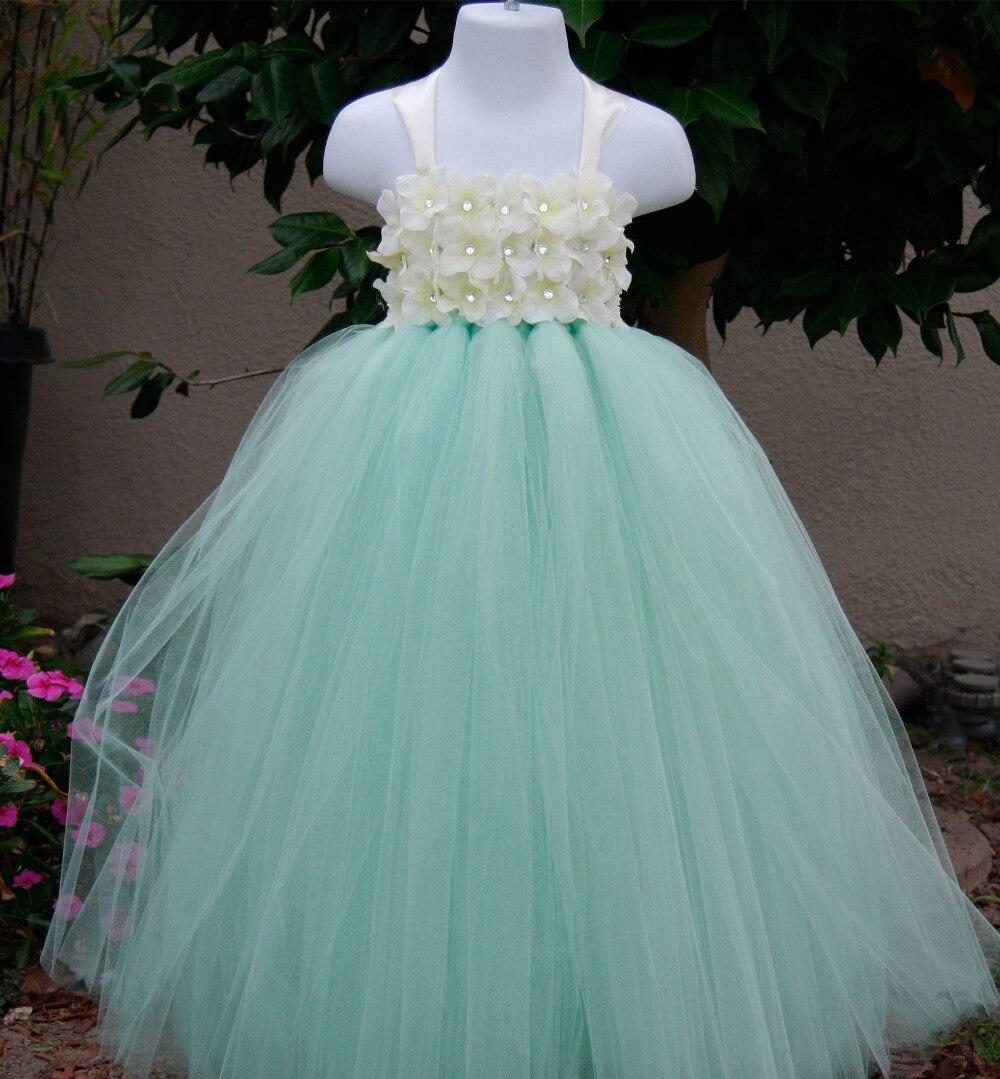 Vestidos de fiesta para ninas en verde menta