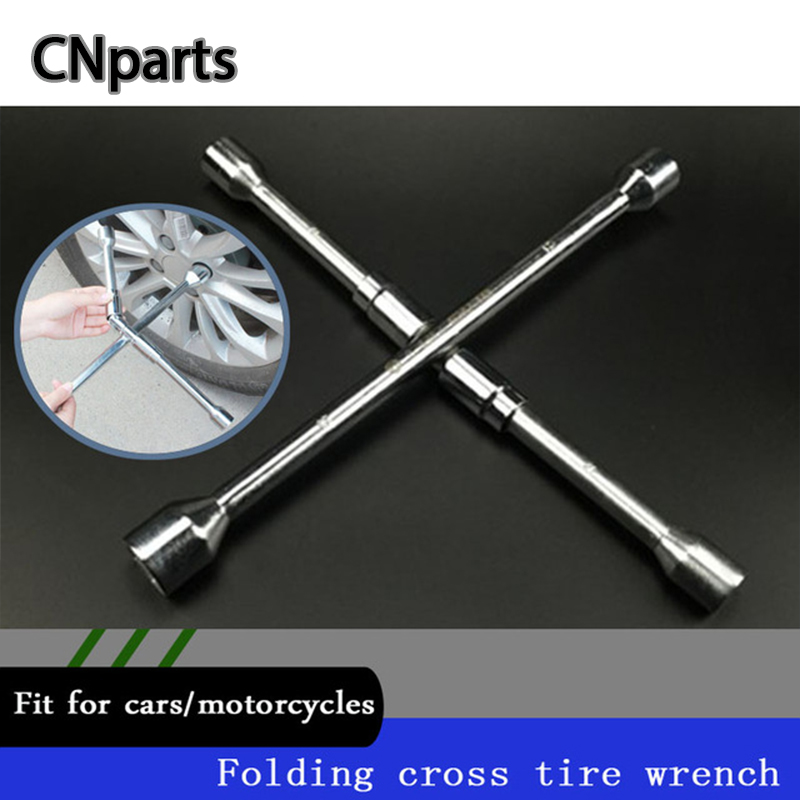 CNparts Universal Car Cross Type Folding Socket Wrench Tool For Abarth Fiat 500 BMW E60 E36 Mercedes Benz Volvo XC90 Accessories