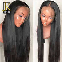 JK Hair Brazilian Straight Wigs Lace Front Human Hair Wigs With Baby Hair Pre Plucked Remy Hair Free Shipping