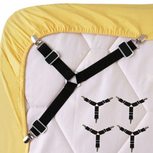 Hot Sale 4PCS Bed Sheet Clip Holder Mattress Blankets Grippers Cover Fasteners with Metal Clips
