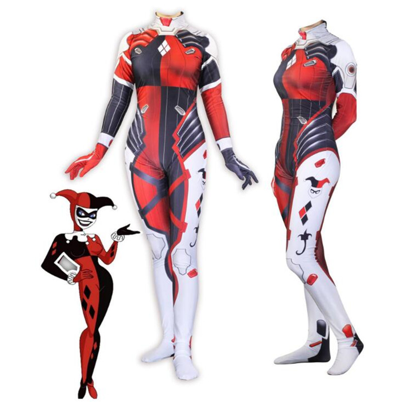 b69888b8d4c4 Suicide Squad Harley Quinn Catsuit Cosplay Costume Adult woman Bodysuit  Halloween Carnaval Party Costumes Onesies For Adults -in Anime Costumes  from Novelty ...
