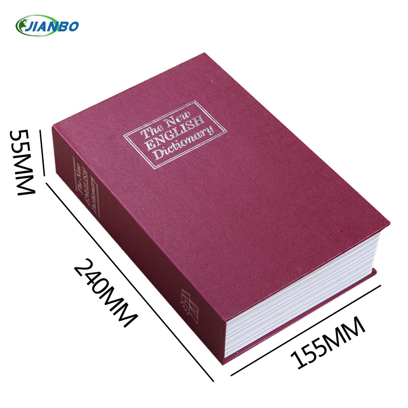 Security Simulation Dictionary Book Case Home Cash Money Jewelry Locker Secret Safe Storage Box With Key Lock Small Medium Size giantree portable money box 6 compartments coin steel petty cash security locking safe box password strong metal for home school