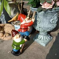 H37cm,Dwarf climb stairs American country garden villa garden fleshy flower pot climbing bonsai decoration gardening groceries