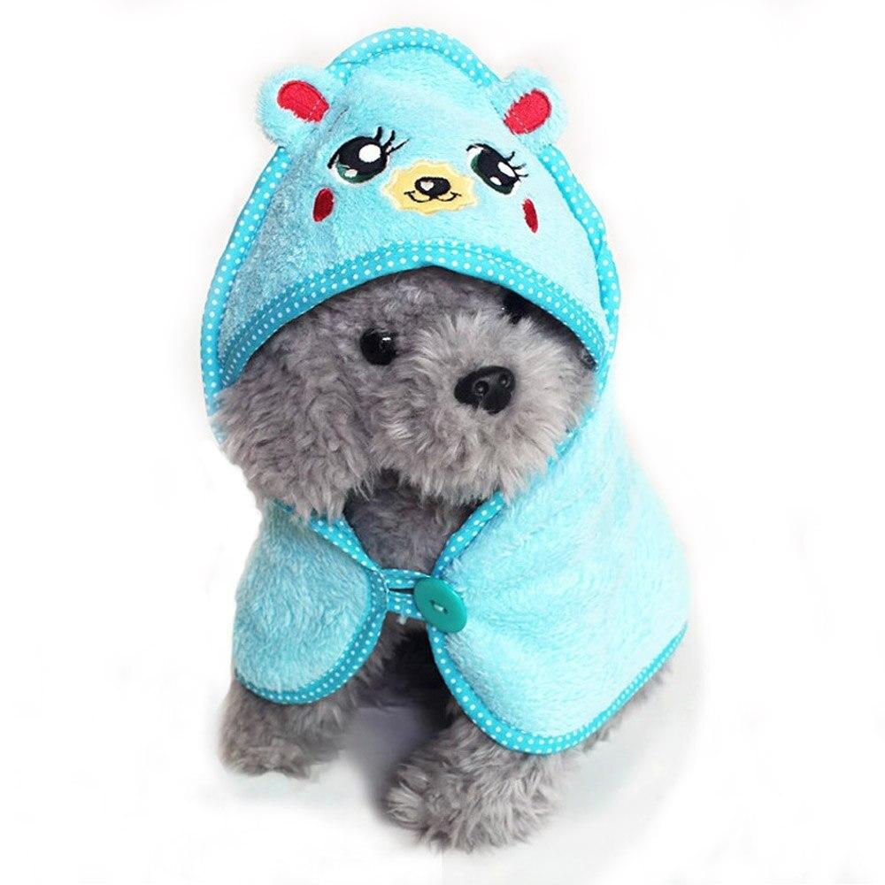 Moda Para Mascotas Dog Pijamas de Algodón Con Capucha Toalla de Baño Albornoz An