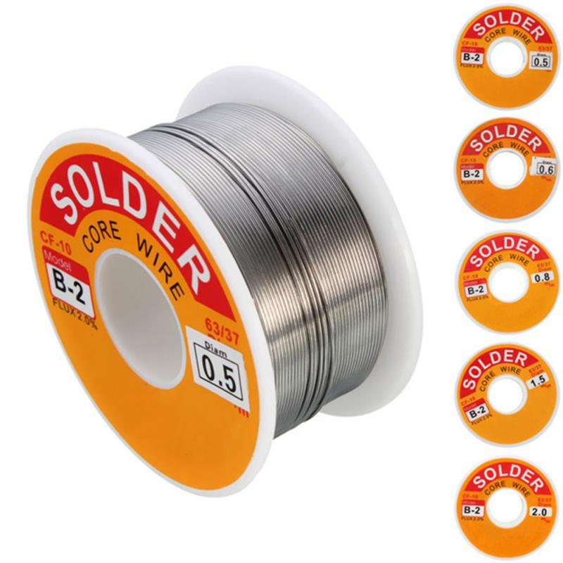 100g 0.6/0.8/1/1.2 63/37 FLUX 2.0% 45FT Tin Lead Tin Wire Melt Rosin Core Solder Soldering Wire Roll No-clean