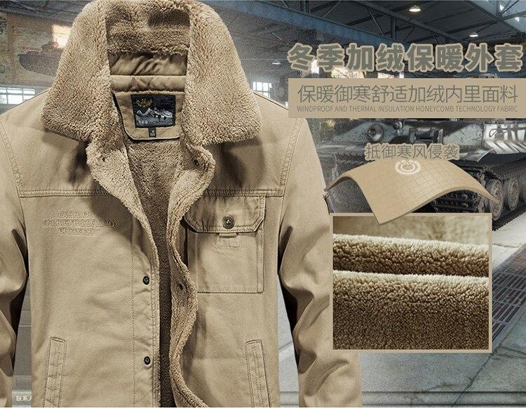FGKKS Winter Men Jacket Men's Fashion Fleece Fur Collar Jackets Male Tactical Mens Warm Jackets Coats