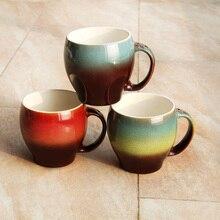 Mode Multicolor Brennofen Glasur 500 ml Große Kapazität Tassen Keramik Becher kaffee Milch Frühstückstasse Kaffeetasse Tee Tassen Geschenke Cup 1 stücke