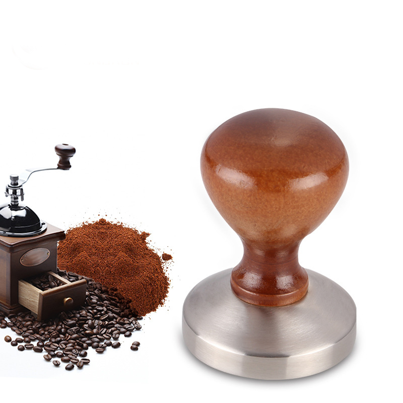 Coffee Tamper 58mm Whorl Flat Base Ripple Espresso Cafe Barista Tools For Kitchen Accessories Coffee Press 4.7 Wholesale